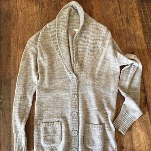 J crew gray knit cardigan